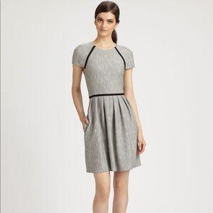 Tibi tweed herringbone gray dress size 8